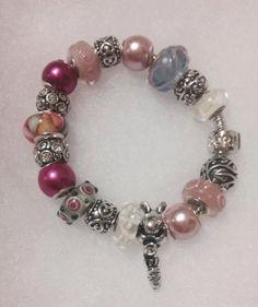 Spring/Easter Bunny Euro Bracelet by PandorableDesigns on Etsy, $30.00