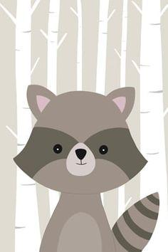 Painting For Kids, Art For Kids, Kids Prints, Art Prints, Baby Animal Drawings, Baby Room Design, Baby Art, Cute Cartoon Wallpapers, Woodland Animals