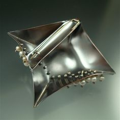 Danielle Miller Jewelry **  Copper, sterling silver, pearls. **  Back of brooch