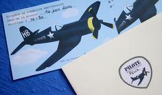 """Kit anniversaire thème """"Avions"""" à télécharger (invitations, écussons, étuis à chocolat, papier à motif) - Abracadacraft"""