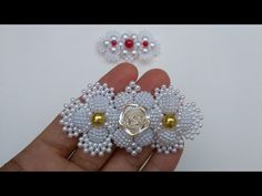 this video tutorial will put you through on how i made this wonderful bead just watch till the end and please - Salvabrani Beading Projects, Beading Tutorials, Beading Patterns, Brick Stitch Patterns, Decorating Flip Flops, Beaded Jewelry, Beaded Bracelets, Head Band, Beads And Wire