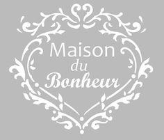 Pochoir Adhésif 22 x 20 cm COEUR MAISON FAMILLE