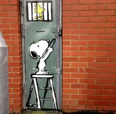 Snoopy Street Art by Karl Strike