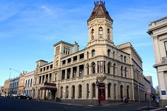 Looking more like a scene from a European city, Lydiard St South shows off some of the finest heritage buildings in Ballarat Victoria