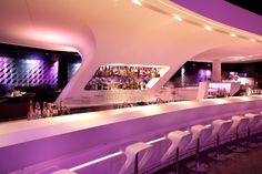 Albertina Passage club by Söhne & Partner Architekten, Vienna. A club suitable for an elegant dinner as well as a big party night.