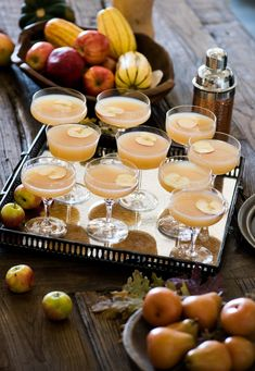 Bring the flavors of fall to your next party with an Apple Whiskey Sidecar recipe and entertaining tips from Todd & Diane of @whiteonrice on our blog.