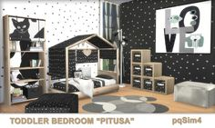 "Sims 4 CC's - The Best: Toddler Bedroom ""Pitusa"" by pqSim4"