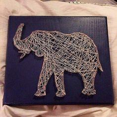 Elephant String Art Sign  by StringsbySamantha on Etsy