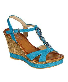 Another great find on #zulily! Blue Jean Wedge Sandal by Westwood Footwear #zulilyfinds