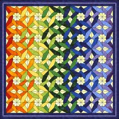 Patchwork patroon: Tangled Star Variation