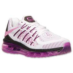 Women's Nike Air Max 2015 Running Shoes - 698903 160 | Finish Line | White/Fuchsia Flash/Black
