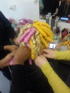 20140124 132214 e1390776249118 225x300 Curlformers for Blackhair and Hair magazine behind the scenes!