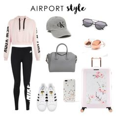 Comfy Couture. by olympia-valance on Polyvore featuring polyvore, fashion, style, NIKE, adidas Originals, Ted Baker, Givenchy, Kate Spade and clothing