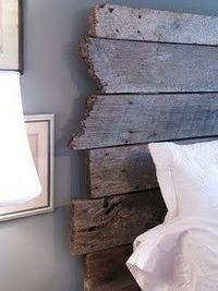 wood for a headboard.