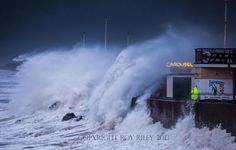 Nov 2nd 2013 - pic via Roy Riley photography - not ours but hope he doesn't mind the pin. We were tucked around the corner luckily but the waves were pretty fierce