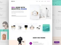 Today I'd like to share with you my new work. It's a landing page concept for service specialized in retouching images for e-commerce. The main goal was to use high quality . Web Design, Form Design, Site Design, Photo Retouching Services, Long Shadow, Landing Page Design, User Interface, High Quality Images, Service Design
