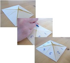 Things to Make and Do - Make a Cootie Catcher (Origami Fortune Teller) Origami Fortune Teller, Oragami, Arts And Crafts Projects, Vintage Boutique, Atv, Catcher, Childhood Memories, Party Favors, Activities