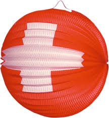 Lampion with Swisscross - 1 August - Swiss Online Shop - Mail Order Swiss Flag, Swiss Design, Paper Lanterns, Zurich, 1 August, Cool Things To Buy, Childhood Memories, City, Illustration