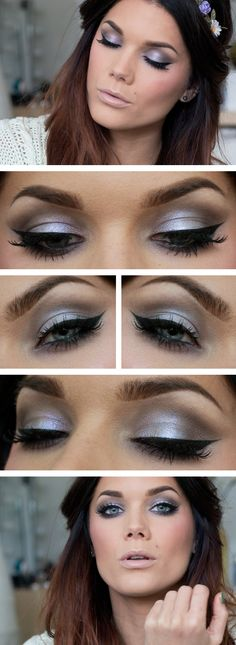 "Today's Look : ""Pale"" -Linda Hallberg (a gorgeous taupe-y smokey eye! Overall, it is pretty pale, but I can see this working with any skin tone... )06/29/13"