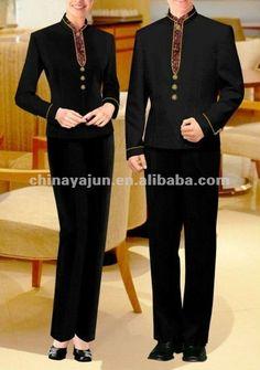 #Hotel uniform suits, #Black hotel uniform, #Trousers hotel uniform