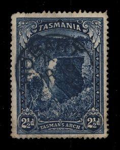 AUSTRALIA / TASMANIA - 1902 - SG 232 2 1/2d INDIGO WITH  HOBART  CDS