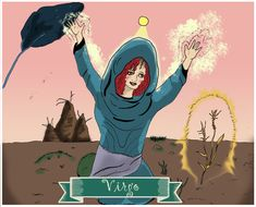 Virgo, Signos del Zodiaco, dibujo, ilustración