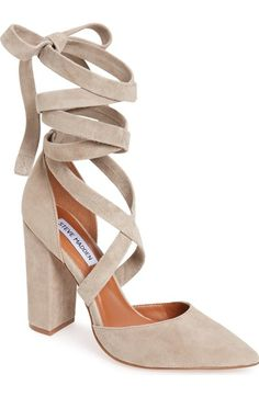 44b754e6da3 Steve Madden Bryony Lace-Up Pump (Women) available at  Nordstrom Thick Heels