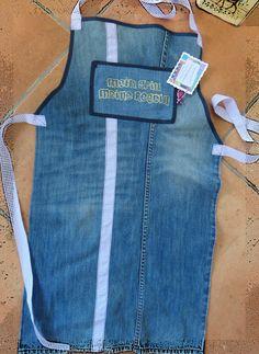 Ich war eine Hose- Grillschürze aus ausgemusterter Jeanshose
