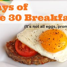 30 Days of Whole 30 Breakfasts - meatified