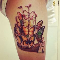 Vladimir Kush butterfly ship tattoo! - so pretty!!!