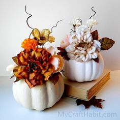 Dollar Store Fall Pumpkin Hacks with Farmhouse Charm - The Cottage Market,Dollar Store Herbst Kürbis Hacks mit Bauernhaus Charme - The Cottage Market Source by Pumpkin Topiary, Diy Pumpkin, Pumpkin Crafts, Fall Crafts, Diy Crafts, Wooden Crafts, Decor Crafts, Holiday Crafts, Autumn Decorating