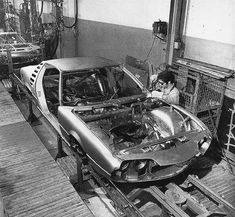 Bertone     Alfa Romeo     Montreal     Production line     1970s
