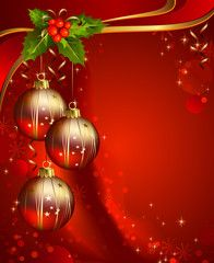 Vertical red christmas backdrop