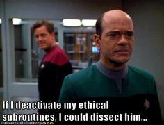 I loved Star Trek: Voyager's Emergency Medical Hologram
