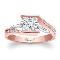 Rose Gold Engagement Ring - 7924LTW