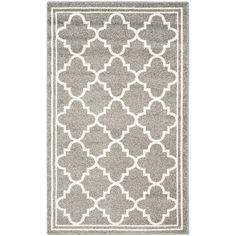 Amazon.com: Safavieh Amherst Collection AMT422R Dark Grey and Beige Indoor/ Outdoor Area Rug (3' x 5'): Kitchen & Dining