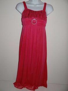 Girl's Party Prom Graduation Flower Girl Pageant Pink Sleeveless Dress Size: M #RubyRox #DressyPageantWedding