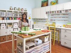 craft and sewing room storage and organization - Sewing Room Design Ideas