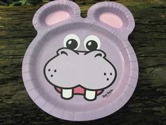 Hefty Zoo Pal plates avail. in grocery stores include purple hippos... Hmmm...