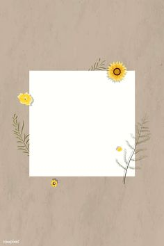 Blank square sunflower frame vector | premium image by rawpixel.com / Aew Story Instagram, Creative Instagram Stories, Framed Wallpaper, Flower Wallpaper, Polaroid Picture Frame, Instagram Frame Template, Photo Collage Template, Instagram Background, Templer