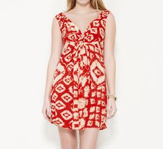 Christophe Sauvat Red and Peach Dress