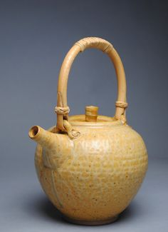 Clay Teapot Taffy with Cane Handle F3 by JohnMcCoyPottery on Etsy