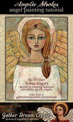 You Will Learn Step-by-Step How to Create This Angel Painting! This tutorial inc… – Hair Internet Learn To Paint, Learn Painting, Felt Angel, Angel Drawing, Angel Cards, Painted Sticks, Mixed Media Art, Mix Media, Small Paintings