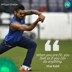 #PlayerQuotes, Virat Kohli has some words of wisdom for fitness enthusiasts! #cricket #IND