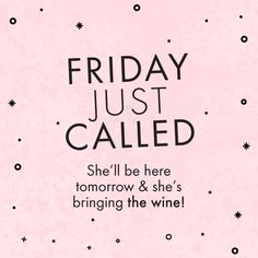 Friday is coming and she's bringing the wine! | Crush Social Media - https://www.soumo.eu/friday-is-coming-and-shes-bringing-the-wine-crush-social-media/