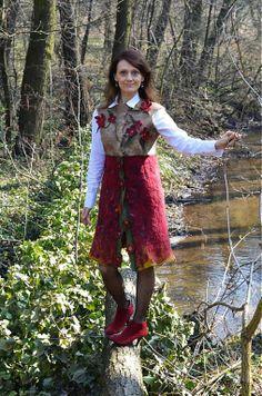Plstená vesta v štýle Vikingov-100% prírodná by FeltroModa - SAShE.sk - Handmade Kabáty