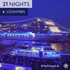 17 steden, 6 landen, 3 weken. #MSCMagnifica #MedWayofLife