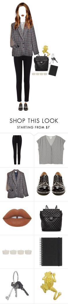 """shut up and let me think"" by vampirliebling ❤ liked on Polyvore featuring Karen Millen, Monki, N°21, Lime Crime, Chanel, Takayaka, Muji and Givenchy"