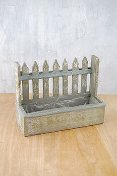 Planter Box Picket Fence Small