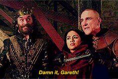 """I wanted to say the cool lines!"" | Gareth & King Richard | Galavant | (gif)"